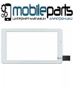"""Сенсор (Тачскрин) для планшета 7"""" Onda V703 (184x104 мм,30 pin) без выреза под динамик  (Белый-Самоклейка)"""