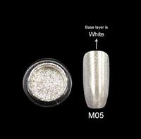 Зеркальная пудра Canni (серебро) М05