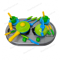 Мини кухня с посудкой Kinderway