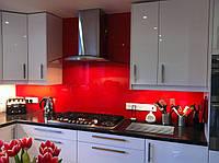Стеклянный кухонный фартук (скинали) с покраской