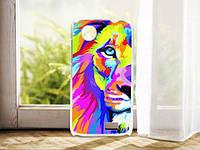 Чехол с картинкой (силикон) для Lenovo A369i A318 A308 Цветной лев