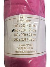 Простынь трикотажная на резинке Alber 100*200 + бортик , фото 3