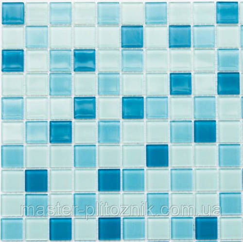 Мозаика Leo Ceramica стеклянная голубая
