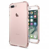 Накладка для iPhone 7 Plus пластик Spigen Case Crystal Shell Прозрачный / Розовый (SGP-043CS20501)