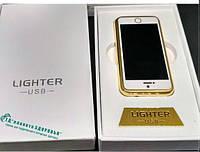 Зажигалка подарочная Iphone-7(спираль накаливания, USB) №4755
