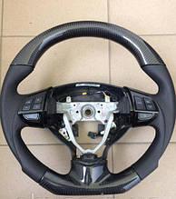 Руль карбоновый на Mitsubishi Lancer X