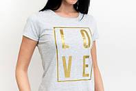 Оригинальная женская футболка с надписью