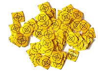 10 шт. Марки геодезические 20x20 - желтые