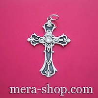 Серебряный крест с камнем (КР-45)