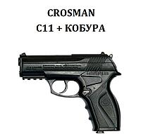 Пневматический пистолет Crosman C11 + кобура, фото 1