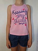 Комплект майка+джинсовые шорты для девочки р.146,152 B.S.T.