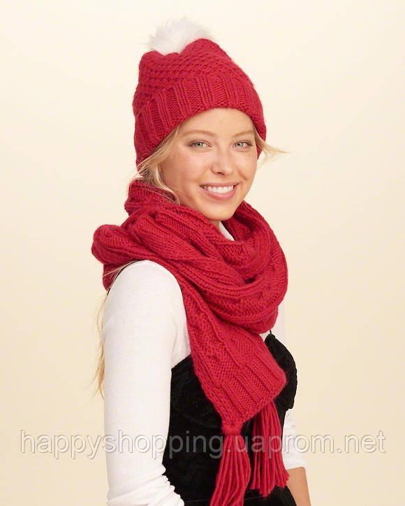 Красный шарф Hollister