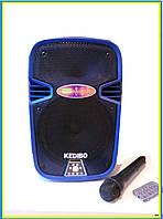 Колонка с микрофоном S08 BLUE Bluetooth. FM-тюнер., фото 1