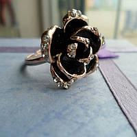 Кольцо позолоченное ювелирная бижутерия, безразмерное 752-а