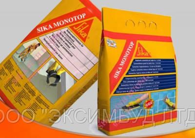 Sika MonoTop -723 N -Выравнивающая шпаклевка и выравнивающий раствор для бетонных поверхностей,25кг.
