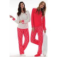 Домашняя одежда U.S. Polo Assn - Пижама женская (длин.рукав) 15110 коралловая, М