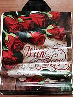 Пакет с петлевой ручкой Розы 38*43 см, фото 1