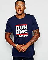 Мужская Футболка Adidas Original Run DMC Синего цвета