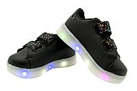 Светящиеся детские кроссовки LED 19-24 размер 21