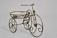 Кованая подставка для цветов Велосипед 1 мини