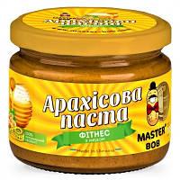 """Арахисовая паста """"Фитнесс"""" с мёдом Master BOB 300 грамм"""
