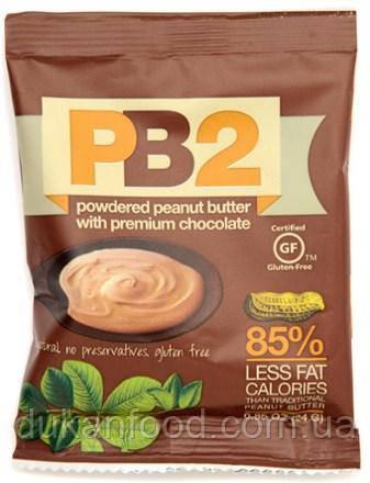Арахисовое масло шоколадное PB2 сухое (порошок) обезжиренное