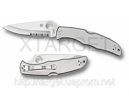 Нож Spyderco Endura, стальная рукоятка, полусеррейтор