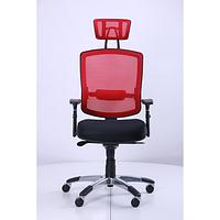 Кресло Коннект HR сиденье Сетка черная, спинка Сетка красная (AMF-ТМ)
