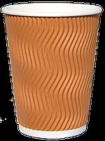 Бумажный стаканчик с гофро стенками (500 euro мл)