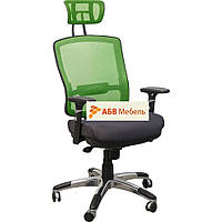 Кресло Коннект HR сиденье Сетка черная,спинка Сетка салатовая (AMF-ТМ)
