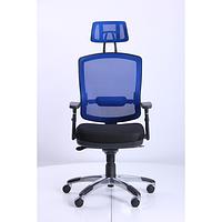 Кресло Коннект HR сиденье Сетка черная,спинка Сетка синяя (AMF-ТМ)