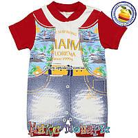 Летний песочник для мальчика Возраст: 3-6-9 месяцев (5338-1)
