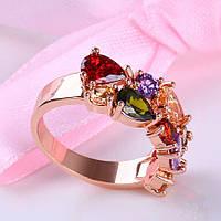 Кольцо позолоченное ювелирная бижутерия 435