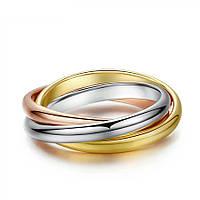 Кольцо позолоченное ювелирная бижутерия 736
