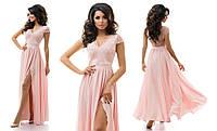 Шикарное платье из гипюра и атласа