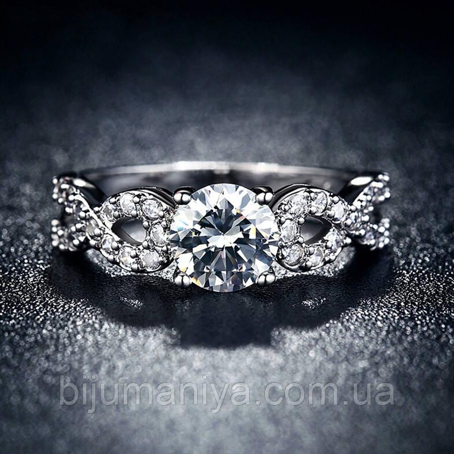 Кольцо покрытие серебро ювелирная бижутерия 711