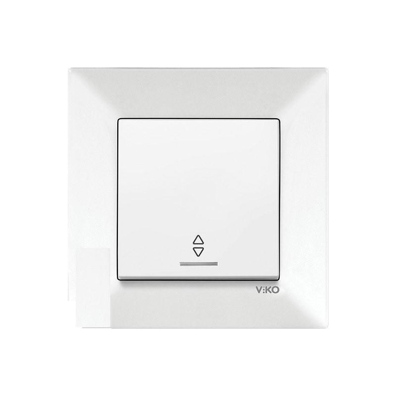 Выключатель с подсветкой проходной одинарный встраиваемый белый VIKO MERIDIAN