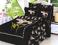 Комплект постельного белья Le Vele Buket Black (Букет Блэк)