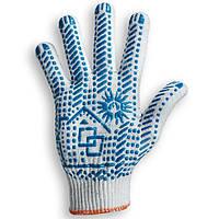 Перчатки рабочие с ПВХ, Домик, белые, 10 класс, 10 размер
