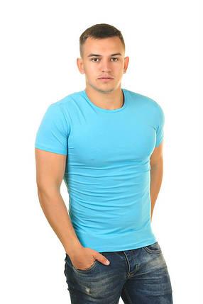 "Мужская футболка стрейчевая Марка ""J 365+1"" Арт.515 (голубой), фото 2"