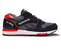 Кроссовки Reebok GL 6000 Black Gray Red Серые мужские 7cca3fa7a7ec7