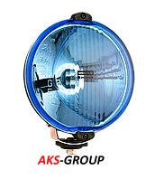 Фара дальнего света Ø 152 мм Wesem HO3.17677 голубая с проводом в блистере