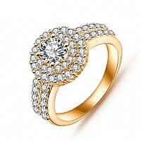 Кольцо позолоченное ювелирная бижутерия 723