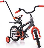 """Детский велосипед Azimut Stitch Premium 12"""" (с родительской ручкой)"""