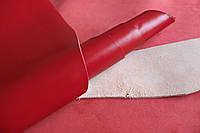 Натуральная кожа для обуви и кожгалантереи красного цвета арт. СК 2152
