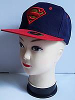 Детская бейсболка для мальчика с прямым козырьком Супермен
