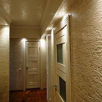 Применение стеклохолста при декоративной отделки стен