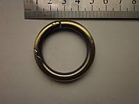 Карабин - кольцо 30 х 6 мм шлифованный антик