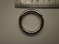 Карабин - кольцо 30 х 6 мм никель