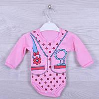 Боди детский. Трикотаж. 1-5 месяцев. Розовый. Оптом.